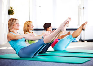 North Wales ladies pilates class